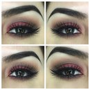 Red brown look eye of the day