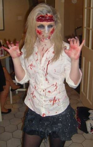 Pic of when i dressed up for Galway Zombie Walk last year..