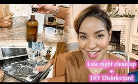 Late Night Clean Up + DIY Disinfectant