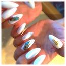 White feather stilettos!