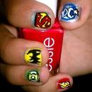 Dc comic nails