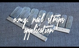 OMG Nail Strips Application | NAILS