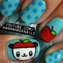 Cute Pandapple Nail Art