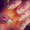 Candy Cane Swirl Nails!