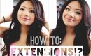 My Hair Extensions & How I Style Them   missilenejoy