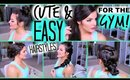 Cute & EASY Hairstyles For The GYM! | Casey Holmes
