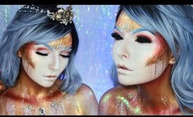 Avant Garde Golden Mermaid Makeup Tutorial
