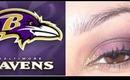 Super Bowl Ravens Full Face Makeup Tutorial - RealmOfMakeup
