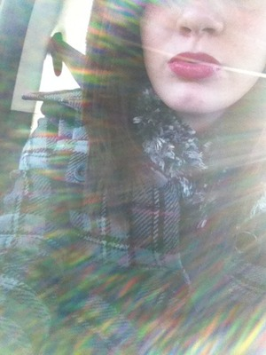 Messing around in the car(: