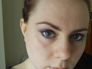 Pale purple shadow and deep purple liner 1