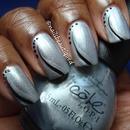 Nail Art Black and Silver