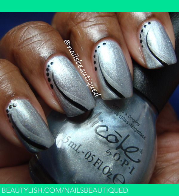 Nail Art Black and Silver | Nails B.\'s (nailsbeautiqued) Photo ...