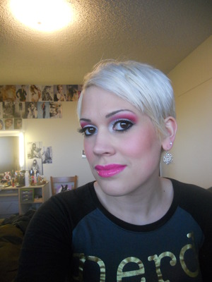 Can't remember what I used since the picture is so old, but I love pink!