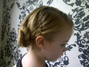 Waterfall braid into fishtail side twist