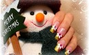 Festive Pink and Gold, Christmas Nail Art Design Tutorial - ♥ MyDesigns4You ♥
