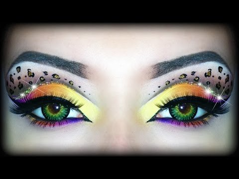 bf39931af6d1 Rainbow Leopard Print - Makeup Tutorial (Sexy Halloween Look) ft. Too Faced