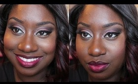 Get Ready With Me: Cranberry Eyes + Dark Lips