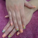 Color nails with art