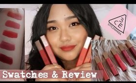 3CE CLOUD LIP TINT Swatches and First Impressions Review