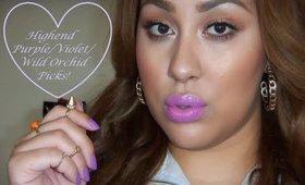 Hello Jessenia's Top Highend Purple lipsticks