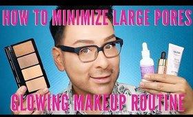 Minimizing Large Pores Glowing Makeup Routine | mathias4makeup