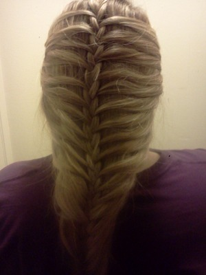 rib cage braid done by me! ♡