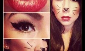 Quick Cat Halloween Makeup