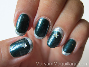 Islamic Nail Art using eco-friendly nail polishes from Priti NYC. All info and how-to are on my blog: http://www.maryammaquillage.com/2012/08/green-priti-in-celebration.html