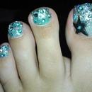 Star Dust Toe Nails