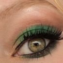 Forest green look