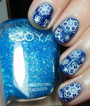 For full details: http://www.letthemhavepolish.com/2014/01/zoya-dream-and-mosheen-snowy-stamped.html