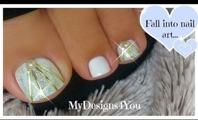 DIY Wedding Toenail Art Design | Bridal Nails ♥ Свадебный Педикюр