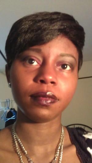 Black ruby Smokey eye. Black radiance lipstick in onyx .