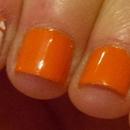 Creamsicle plaid nail art