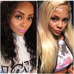 Both lace frontal wigs made by Dare to Bee Different Image Studio