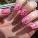China Glaze - Shocking Pink with Models Own - Ibiza Mix