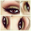 Sexy Gold Cat eye