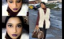 Wearable winter makeup look +outfit of the day.