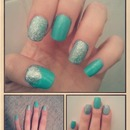 minty blue with silver, love it!!
