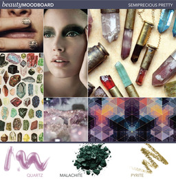 Beauty Mood Board: Semiprecious Pretty