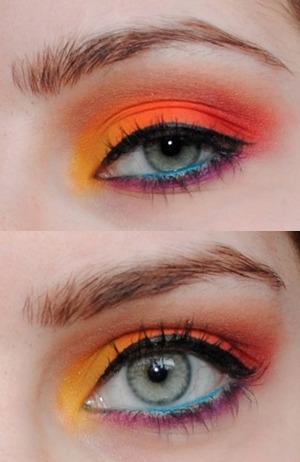 Rainbow/Tropical look for summer!