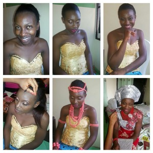 Before and after pix of the bride
