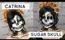 CATRINA  BLANCO Y NEGRO   SUGAR SKULL WHITE & BLACK  | auroramakeup