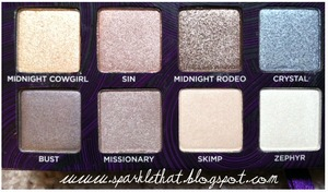 Urban Decay Book of Shadows IV - bottom half  http://sparklethat.blogspot.com/2011/12/urban-decay-book-of-shadows-iv-swatches.html