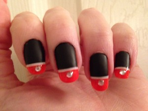 Created with Express Finish Black and Orly Orange Punch.