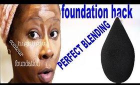 BEST FOUNDATION HACK W/ A BODY BLENDER!! ONLY!! | TOOK 3 MINS| darbiedaymua