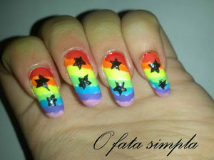 More manicures on my blog ->http://o-fata-simpla.blogspot.ro/2013/07/challenge-25-rainbow-nails.html