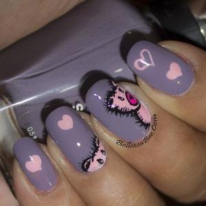 Blog post: http://www.bellezzabee.com/2014/02/busygirlnails-winter-nail-art-challenge_9.html