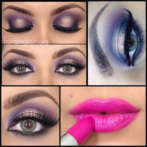 I love their eyeshadows and lipsticks. the pop of color pink in lips and gold right in the centre of the lid.