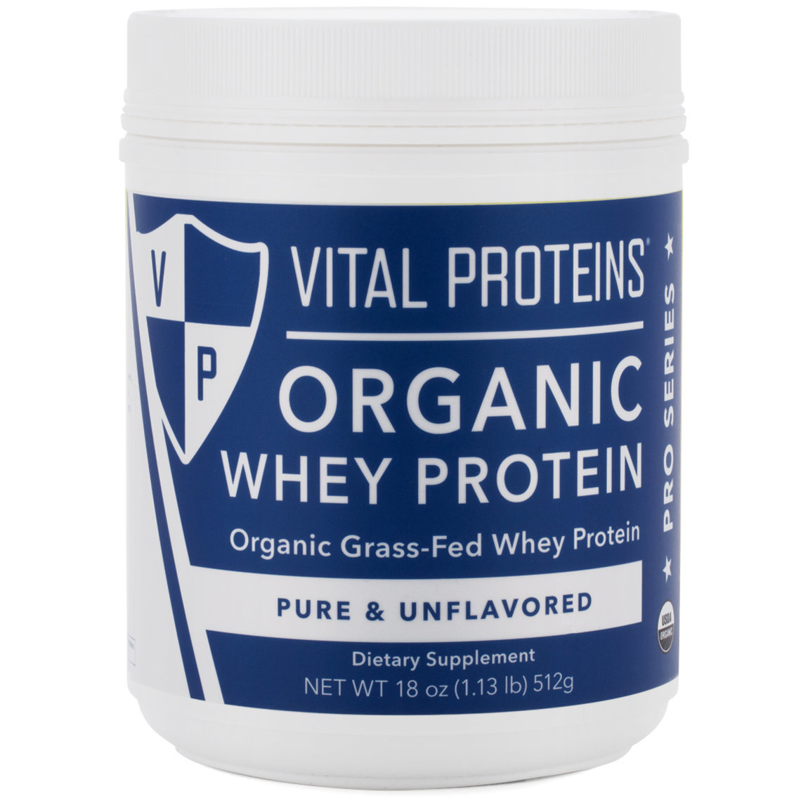 Vital Proteins Organic Whey Protein product swatch.